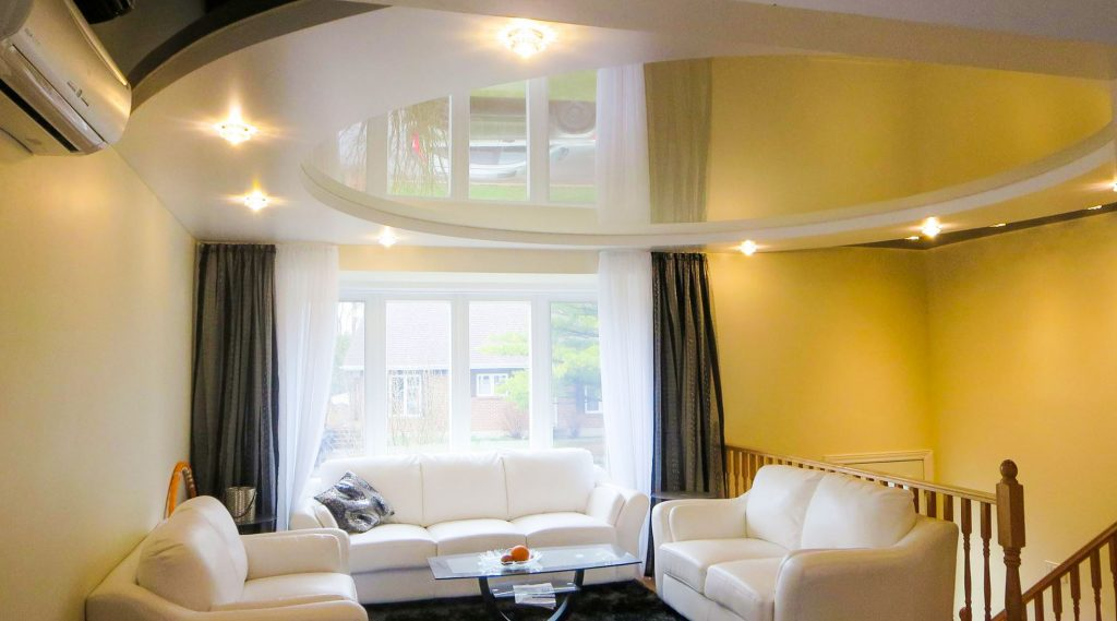 Combined Living room Stretch Ceilings Favorite Design