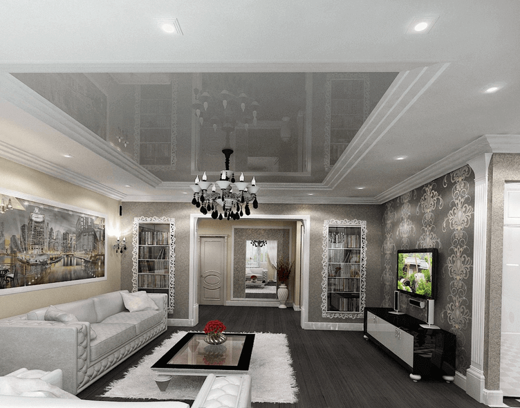 salon plafond tendu favorite design plafond tendu et mur d coratives montr al favorite design. Black Bedroom Furniture Sets. Home Design Ideas