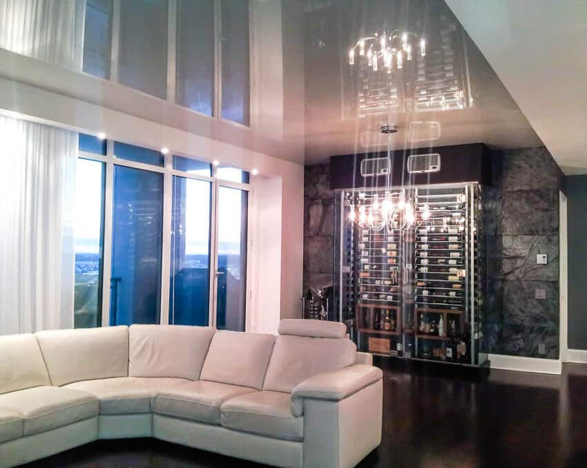 Living room Stretch Ceilings Favorite Design