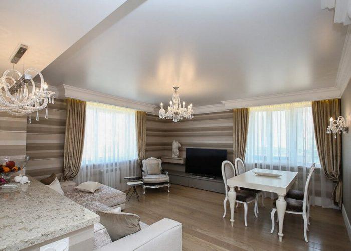 Satin stretch ceilings Favorite Design