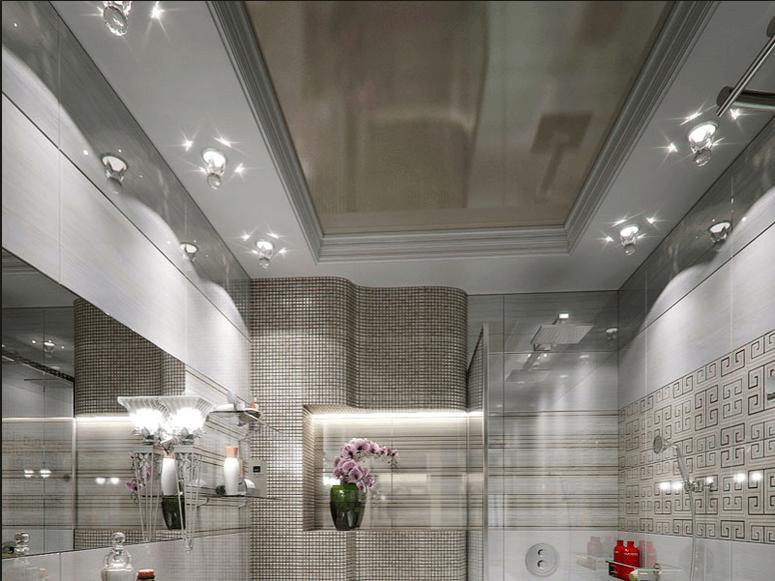 Salle de Bain. Plafond Tendu.Favorite design