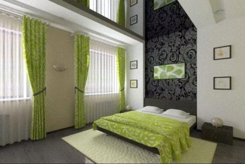 Сhambre à coucher.Plafond Tendu.Favorite design.