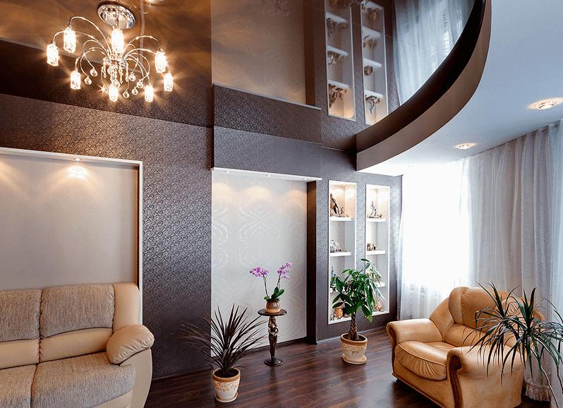 Living Room Stretch Ceiling Favorite Design